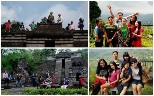 Perjalanan singkat bareng teman-teman jurnalis seni-budaya Yogyakarta, mampir di Candu Sukuh, akhir 2011. Foto: Dok Fira