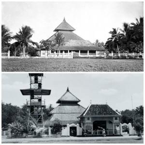 Masjid Agung Demak pada akhir abad ke-19 dan antara 1920-1939. (arsip wikipedia)
